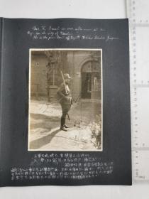 侵华日军联队相册,2张照片,日军军官,汽车,有天津海光寺兵营字样