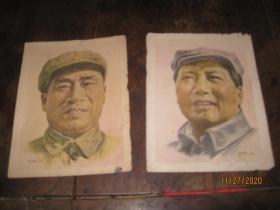 毛泽东朱德画像1949