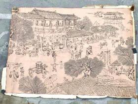 八十年代大幅国画(画芯长267厘米,宽192厘米)