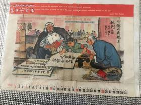 文革宣传画。藏族姑娘。两张合售120元