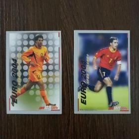 当代体育球星卡·2004欧洲杯射手风云典藏卡:路德·范尼斯特鲁伊 劳尔·冈萨雷斯(2张合售)