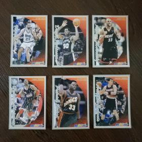 当代体育球星卡·NBA球星:阿维达斯·萨博尼斯 帕特里克·尤因 哈基姆·奥拉朱旺 阿朗佐·莫宁 大卫·罗宾逊 维兰德·迪瓦茨(6张合售)