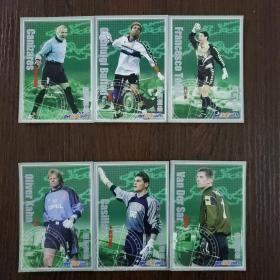 当代体育球星卡·欧洲堡垒系列:范德萨 卡西利亚斯 卡恩 托尔多 布冯 卡尼萨雷斯(6张合售)