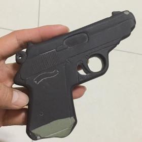 【正宗贺兰石/不议价/假一赔十】瓦尔特手枪模型工艺品把件(可作摆件/镇纸/按摩板)多图实拍保真