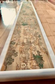清院本 清明上河图全卷。纸本大小35.6*1113.81厘米。宣纸原色微喷印制。