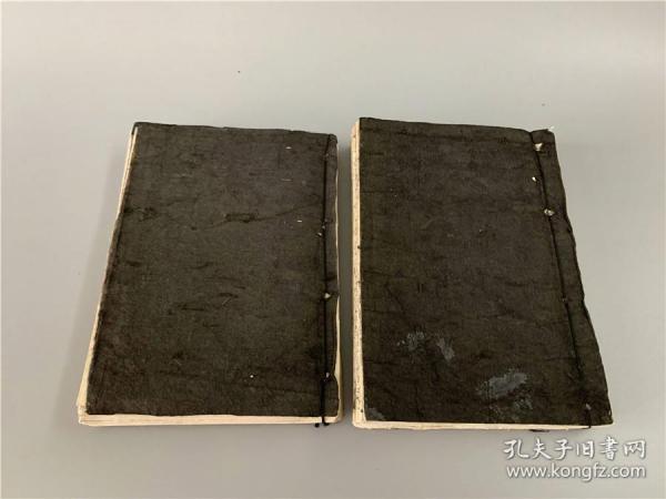 失题古代日本武将战争的故事版画存2册,有旧衬。楠公足利兄弟等。画工不详,年代不详