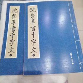 沈粲草書千字文(上下两册)