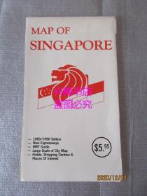 新加坡地图——1989-90版本