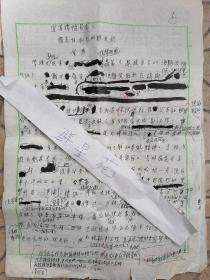 著名画家、苏州市油画雕塑院院长、苏州市美协名誉主席 贺野 <宜苏楼随笔>之七手稿五页