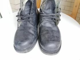 海军纯羊毛牛皮鞋,上世纪装备。