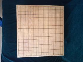日本围棋具 日本围棋墩 本榧板木木里围棋墩 原主人昭和二年购置