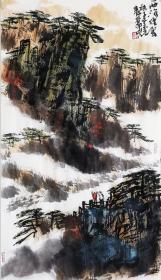 【保真】安徽省美术家协会员、《中华国风文艺》执行主编、实力画家方玉毛精品山水:西海烟云