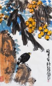 【保真】安徽省美术家协会员、《中华国风文艺》执行主编、实力画家方玉毛花鸟精品