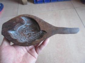 老模具民国手工雕刻包浆好寿字寿桃图糕点面食品印模卡子包老少见