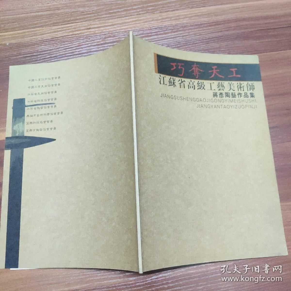 巧夺天工-蒋彦陶艺作品集-江苏省高级工艺美术师--大16开