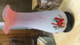 请看一个【彩色玻璃花瓶】高32,直径12     见图