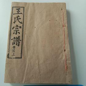 王氏宗谱(卷二十一上)