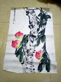 上海老国画家苏半桥画一张  2