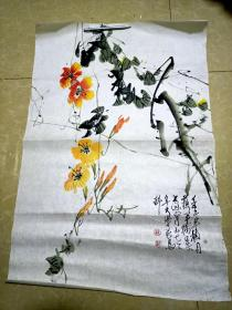上海老国画家苏半桥画一张  3