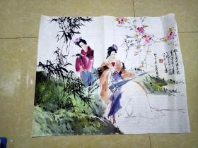 上海老国画家苏半桥画一张  4