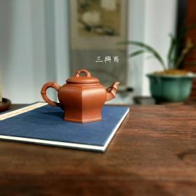 清水泥紫砂壶郭余萍六方竹节壶