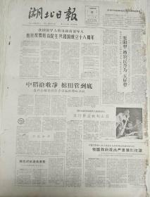 老报纸 湖北日报 1963年9月2日(4开两版),我国领导人致电越南领导人,热烈祝贺越南民主共和国成立18周年;我们的朋友和同志遍于全世界