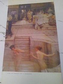 挂历1986年外国名画家卡贝纳尔 莫尔 阿尔马.塔德马 等绘画 剩9张