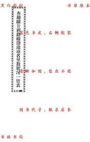 【复印件】查勘绥甘新路线沿途地名里数状况一览表-作者不详-民国铅印本