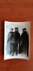 毛主席,朱德与周恩来在一起的老照片 黑白