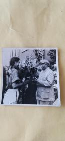 毛主席在陕北 黑白老照片 4张合售