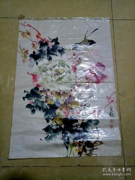 上海老国画家苏半桥画一张  1