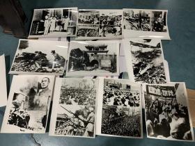 翻印抗日救国,周恩来,毛主席 宋庆龄  林彪等照片,抗战时期的一些场景 等画面照片,共40张