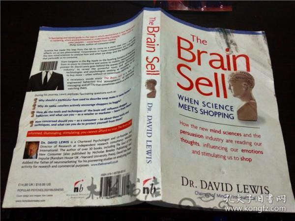 原版英法德意等外文 THE BRALN SELL When science meets shopping Dr.David Lewis 2013年 小16开平装