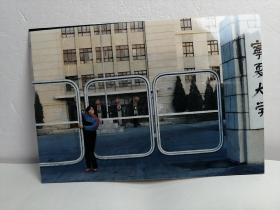 宁夏大学校门口照片