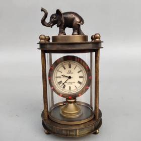 纯铜镶钻大象机械表 ,尺寸如图,重340克 。