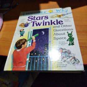 英文原版绘本I wonder why stars twinkle我很好奇的是:星星为何闪烁