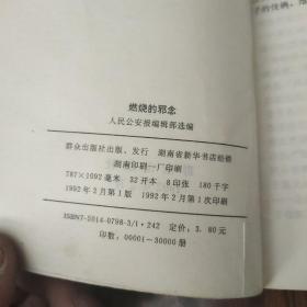 燃烧的邪念—侦破纪实作品选(1-1)