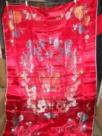 五彩丝绸背面;龙凤,牡丹,聚宝盆(全新没用过)