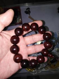 紫檀手串,直径1.8cm
