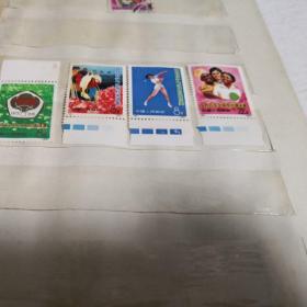 邮票,亚非拉乒乓球友好邀请赛91-94  四张合售,品好如图,实物图品如图,新1-1号邮夹里