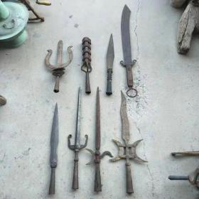 清代各种冷兵器共八件,品如图