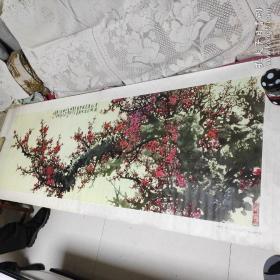 年画:迎春图(超长2米,带轴)