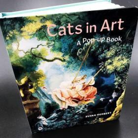 预售猫的艺术立体书Cats in Art: A Pop-Up Book