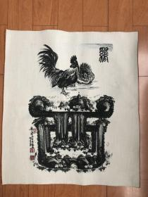 织锦画棉布画生肖鸡,