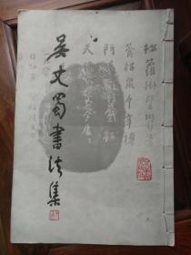 正版书《吴丈蜀书法集》,初版本,八开线装本,品见描述包快递发货。