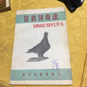 《信鸽饲育法》