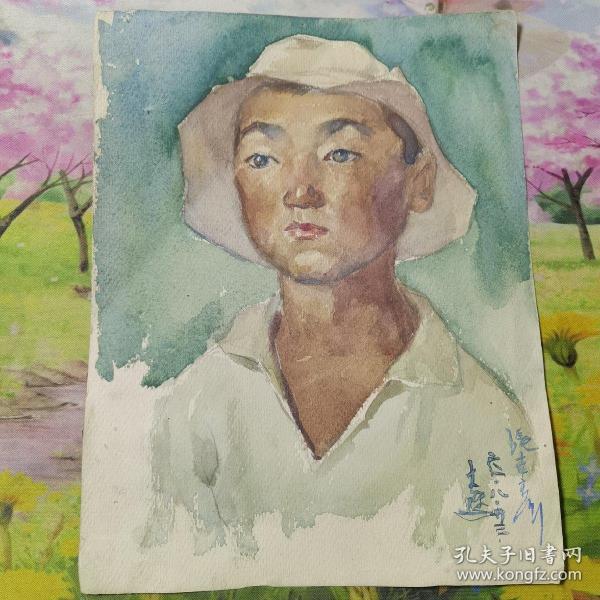 张世彦 水彩人像.