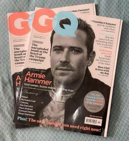 英国 GQ绅士2020年11月艾米·汉莫Armie Hammer 时尚服装英文杂志