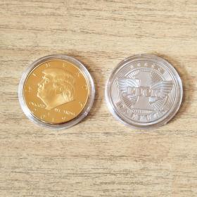 美国总统特朗普川普纪念币纪念章2枚合售