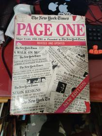 page one major events 1920-1981 as presented in the New York Times